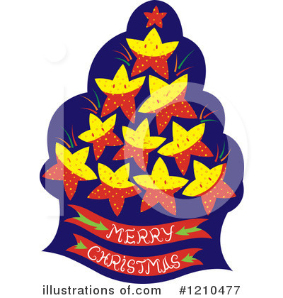 Christmas Tree Clipart #1210477 by Cherie Reve