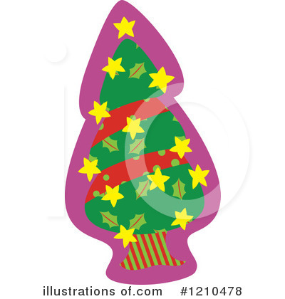 Christmas Tree Clipart #1210478 by Cherie Reve