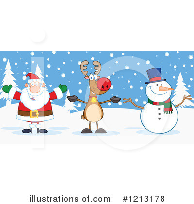 Snowman Clipart #1213178 by Hit Toon