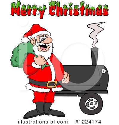 Bbq Smoker Clipart #1224174 by LaffToon