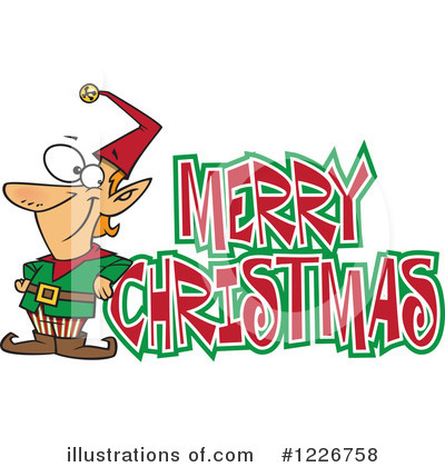 Christmas Greetings Clipart #1226758 by toonaday