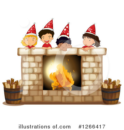 Fireplace Clipart #1266417 by Graphics RF