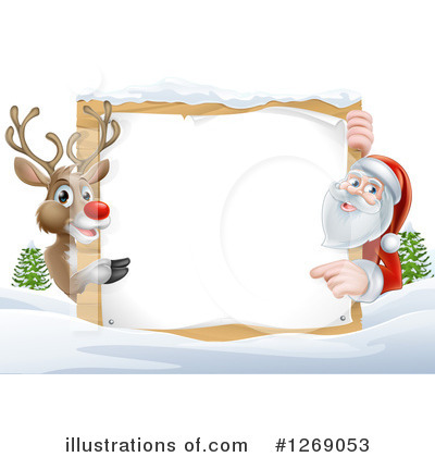 Santa Clipart #1269053 by AtStockIllustration