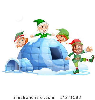 Igloo Clipart #1271598 by Graphics RF