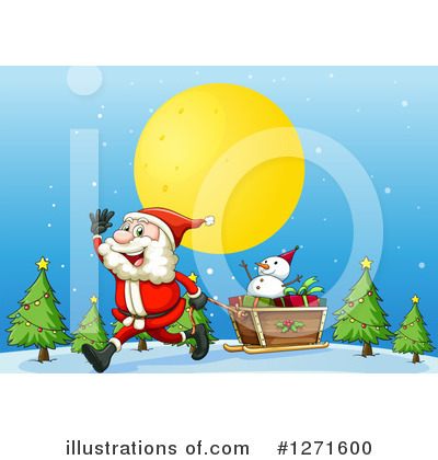 Snowman Clipart #1271600 by Graphics RF