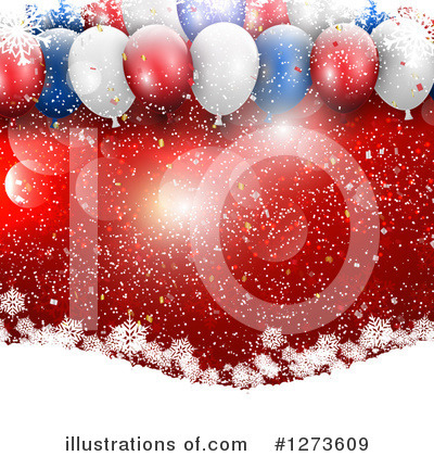 Party Balloons Clipart #1273609 by KJ Pargeter