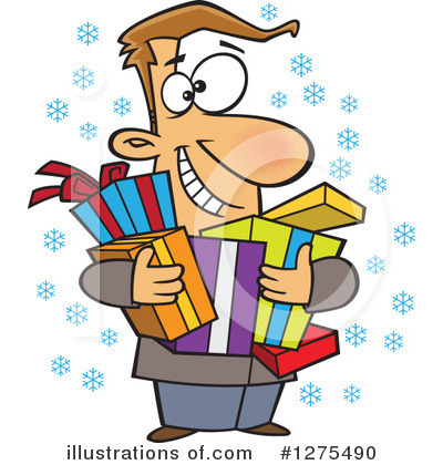 Christmas Shopping Clipart #1275490 by toonaday