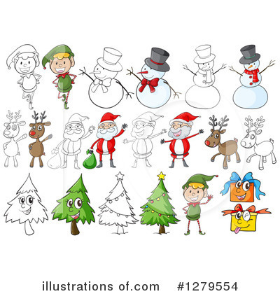 Snowman Clipart #1279554 by Graphics RF