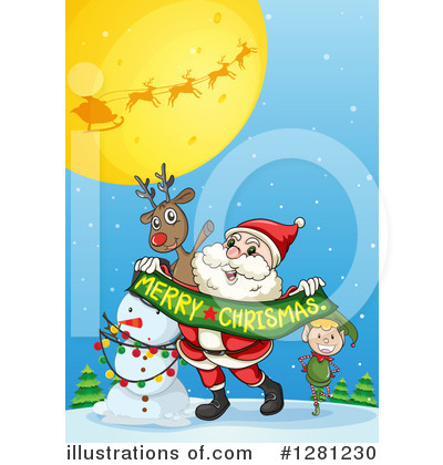 Snowman Clipart #1281230 by Graphics RF