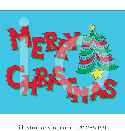 Christmas Tree Clipart #1285959 by Cherie Reve