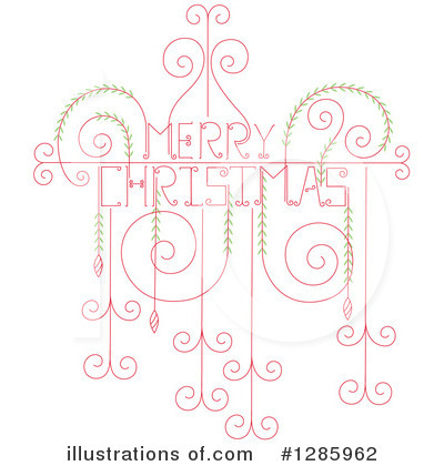 Christmas Greetings Clipart #1285962 by Cherie Reve
