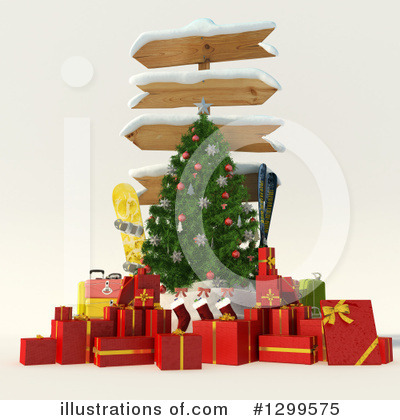 Royalty-Free (RF) Christmas Clipart Illustration by Frank Boston - Stock Sample #1299575