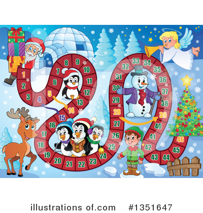 Royalty-Free (RF) Christmas Clipart Illustration by visekart - Stock Sample #1351647