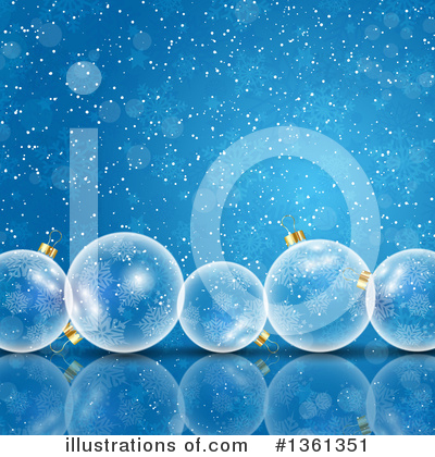 Christmas Background Clipart #1361351 by KJ Pargeter