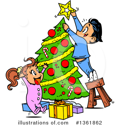 Royalty-Free (RF) Christmas Clipart Illustration by Clip Art Mascots - Stock Sample #1361862