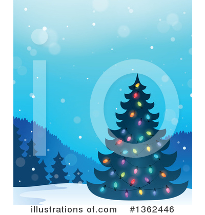 Christmas Tree Clipart #1362446 by visekart