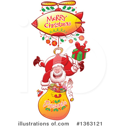 Merry Christmas Clipart #1363121 by Zooco