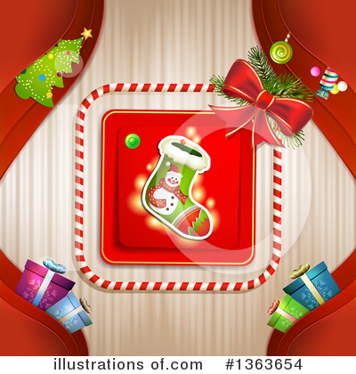 Christmas Stocking Clipart #1363654 by merlinul