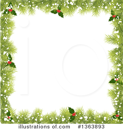 Christmas Background Clipart #1363893 by vectorace