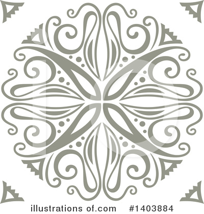Snowflakes Clipart #1403884 by Cherie Reve