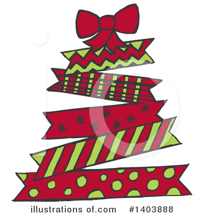 Christmas Tree Clipart #1403888 by Cherie Reve
