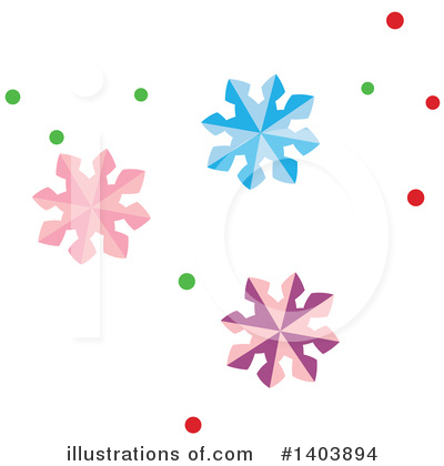 Snowflakes Clipart #1403894 by Cherie Reve
