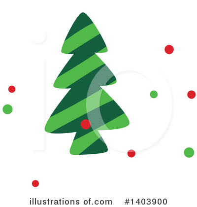 Christmas Tree Clipart #1403900 by Cherie Reve