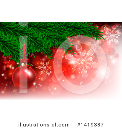 Christmas Background Clipart #1419387 by AtStockIllustration