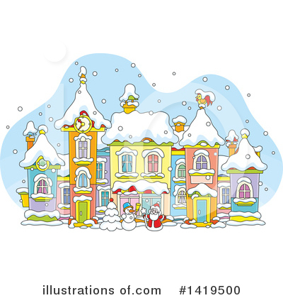 Christmas Clipart #1419500 by Alex Bannykh