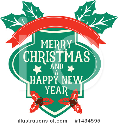 New Year Clipart #1434595 by Vector Tradition SM