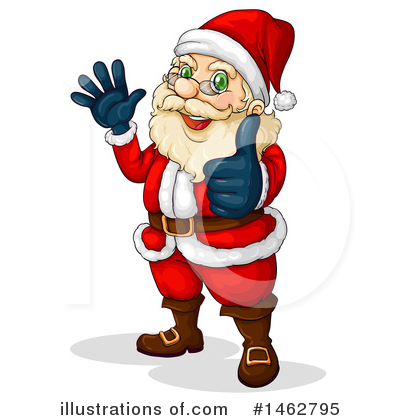 Santa Clipart #1462795 by Graphics RF