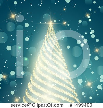 Christmas Tree Clipart #1499460 by KJ Pargeter