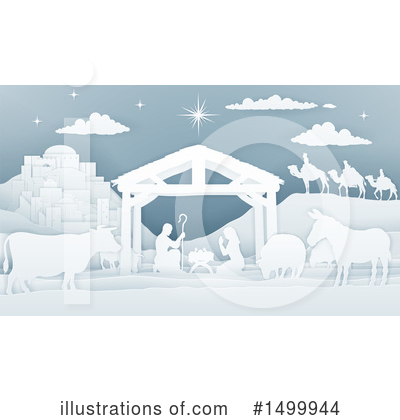 Nativity Scene Clipart #1499944 by AtStockIllustration