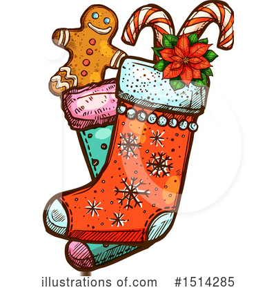 Gingerbread Clipart #1514285 by Vector Tradition SM