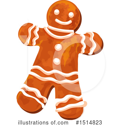 Gingerbread Clipart #1514823 by Vector Tradition SM