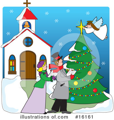 Royalty-Free (RF) Christmas Clipart Illustration by Maria Bell - Stock Sample #16161