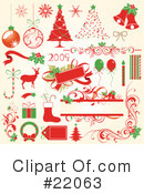 Royalty-Free (RF) Christmas Clipart Illustration #22063