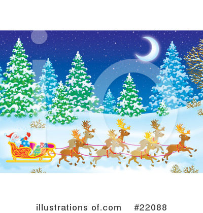 Royalty-Free (RF) Christmas Clipart Illustration by Alex Bannykh - Stock Sample #22088