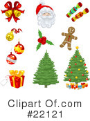 Royalty-Free (RF) Christmas Clipart Illustration #22121
