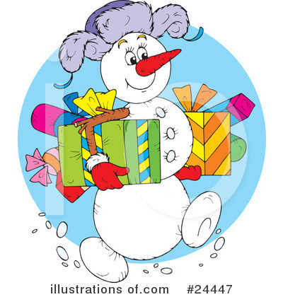 Snowman Clipart #24447 by Alex Bannykh