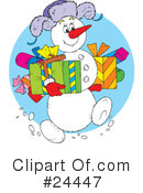Royalty-Free (RF) Christmas Clipart Illustration #24447