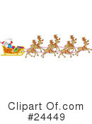 Royalty-Free (RF) Christmas Clipart Illustration #24449