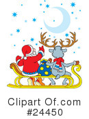 Royalty-Free (RF) Christmas Clipart Illustration #24450
