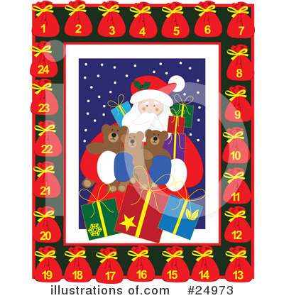 Royalty-Free (RF) Christmas Clipart Illustration by Eugene - Stock Sample #24973
