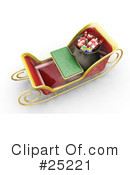 Royalty-Free (RF) Christmas Clipart Illustration #25221