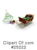 Royalty-Free (RF) Christmas Clipart Illustration #25222