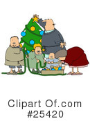Royalty-Free (RF) Christmas Clipart Illustration #25420