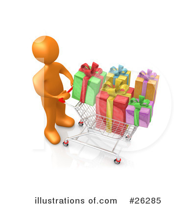 Christmas Shopping Clipart #26285 by 3poD