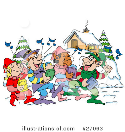 Christmas Clipart #27063 by LaffToon
