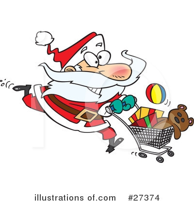 Christmas Shopping Clipart #27374 by toonaday